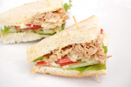 マグロのサンドイッチ 写真素材