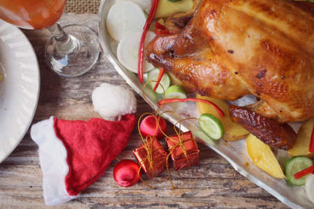 pavo: Pavo asado para el día de Navidad