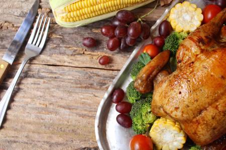 turkey: pollo asado de pavo para el día de acción de gracias Foto de archivo