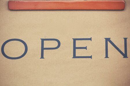a signboard: Open signboard