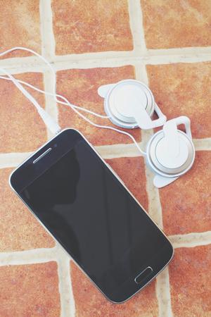earphone: Smart phone with earphone