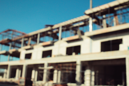 unfinished building: Blurred of unfinished building Stock Photo