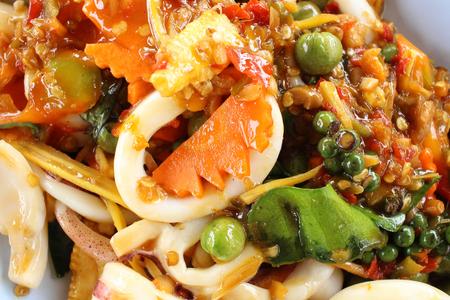 peppery: Basil squid thai food