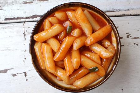 Reiskuchen koreanische Lebensmittel