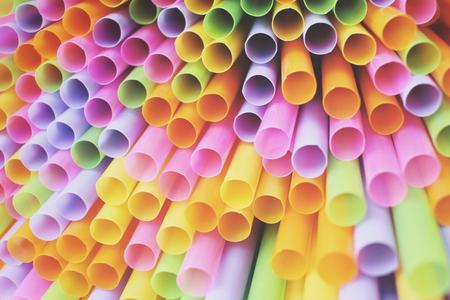 straws: Colorful drinking straws Stock Photo