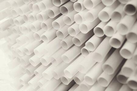 straws: Black and white drinking straws