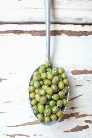 mung: Green mung beans Stock Photo