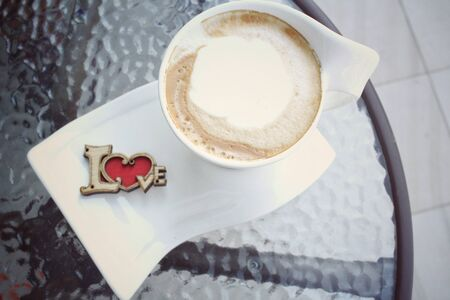 coffe cup: Hot coffe cup with love