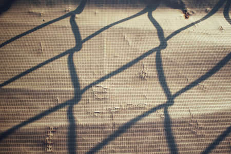 shadow: Shadow of fence at home Stock Photo