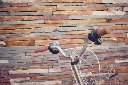 handlebar: Vintage bicycle handlebar.