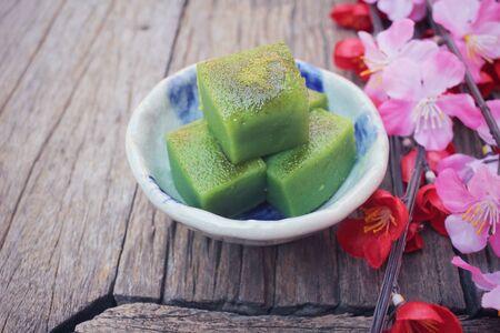 japanese dessert: Matcha mochi japanese dessert