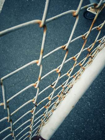 wire fence: Old iron wire fence Stock Photo