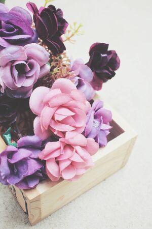beautiful rose: Beautiful rose of artificial flowers Stock Photo