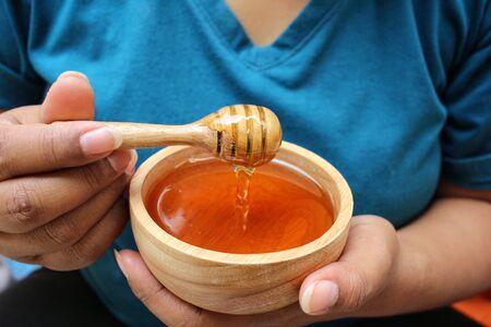 dipper: Fresh honey with honey dipper