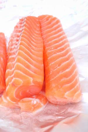redfish: Raw salmon