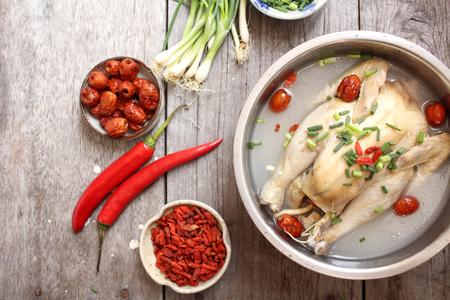Ginseng kippensoep Koreaans eten Stockfoto - 55578246