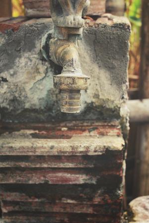 fantastical: Antique faucets. Stock Photo