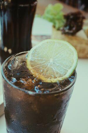 cola: Cola with lemon Stock Photo