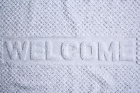 doormat: Welcome doormat in the bedroom