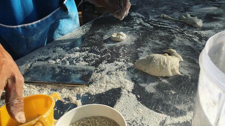 haciendo pan: Fabricación de la pasta de pan