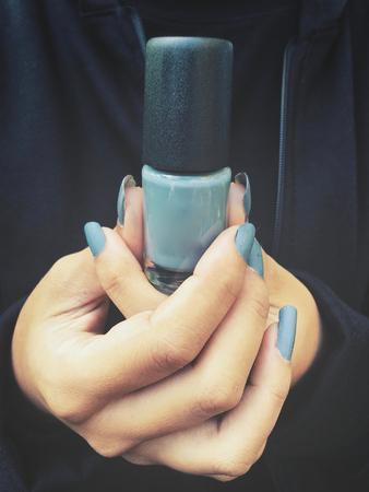 polish: Nail polish Stock Photo
