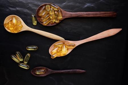 cod liver: Cod liver oil capsules