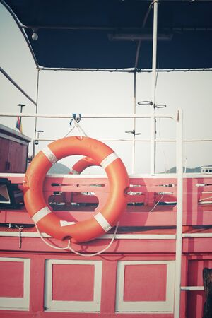 buoy: Ring buoy on the boat
