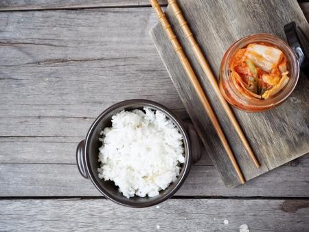Kimchi with rice