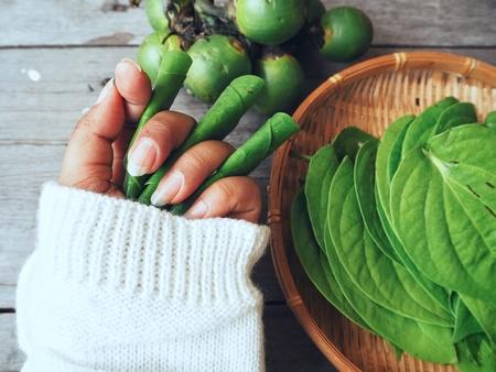 Betel nut and leaf