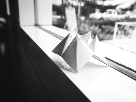 Paper fortune teller with window