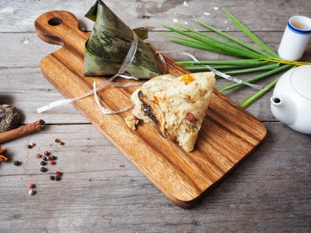 Zongzi chinese food Stock Photo