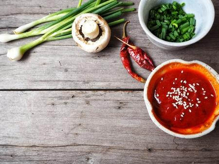 Korean red pepper paste gochujang Фото со стока