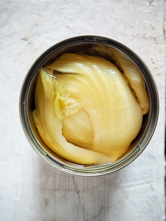 mustard leaf: Pickled mustard green on can chinese food