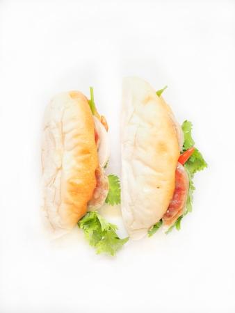 mi: Sandwich vietnamese food isolated