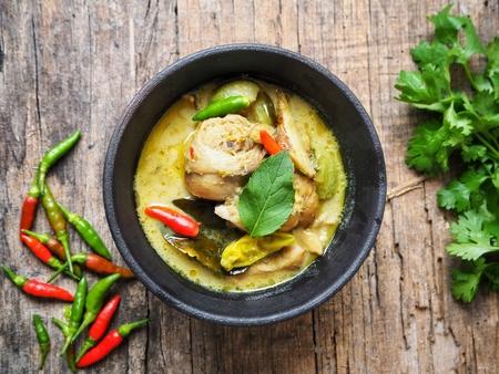 Green curry chicken Thai food