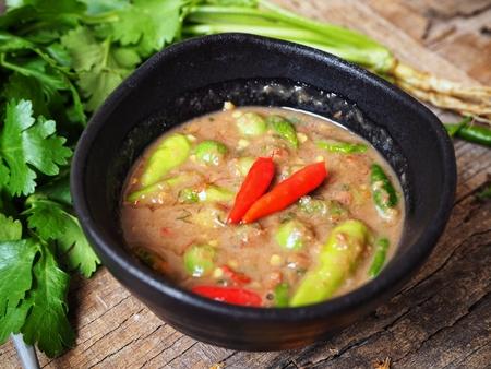 Chili and shrimp paste Thai food