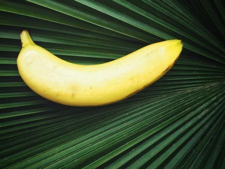 Banana on plam leaves
