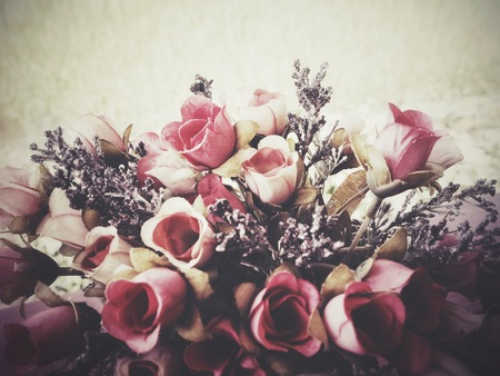 Beautiful of rose artificial flowers vintage style