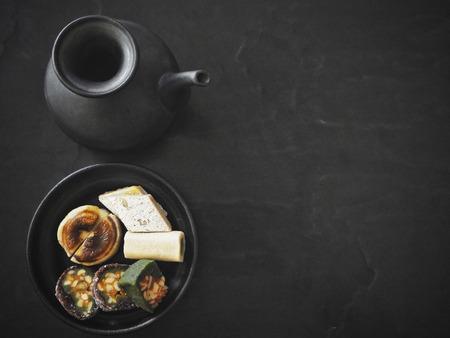 Mithai Indian desserts on black background