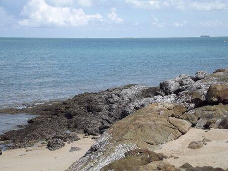 seaway: Rock Stock Photo
