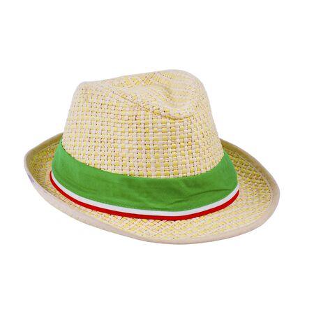 chapeau paille: chapeau de paille sur fond blanc