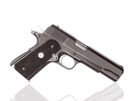 magnum: Semi-automatic gun isolated on white background