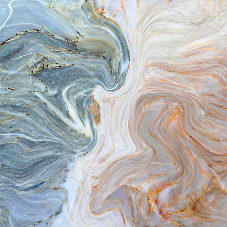 Creative background with abstract acrylic painted waves. Turquoise marble texture. Blue handmade surface.