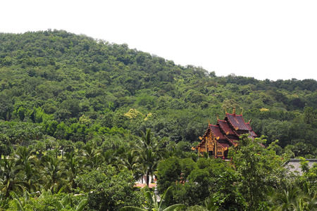 ordain: Daraphirom Palace, The lanna style Forest Temple, Chiangmai, Thailand Stock Photo