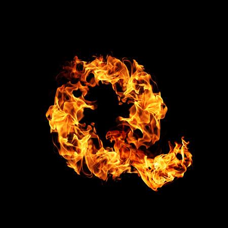 letter q: Fire letter Q.