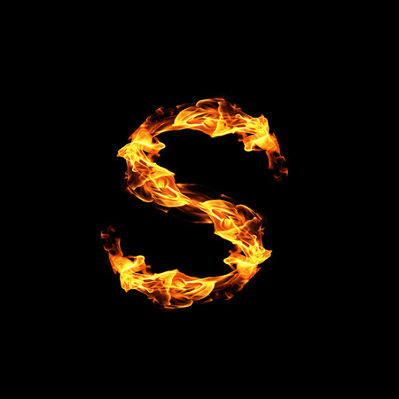abstract fire: Fire letter S.
