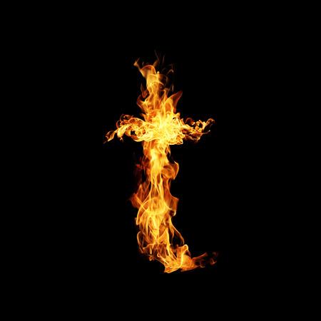 fervent: Fire letter T.