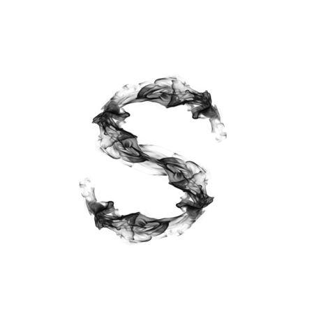 fire letter: Smoke letter S. Stock Photo