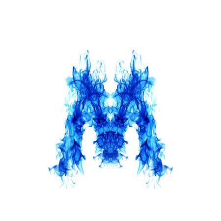 blue fire: Blue Fire letter M.