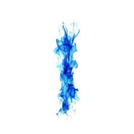 Blue Fire letter L. Banco de Imagens